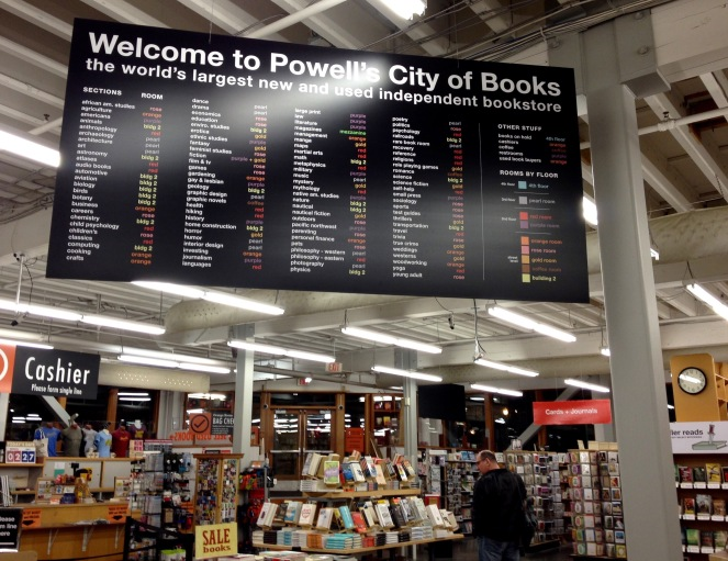 Powells City of Books - Guide to Portland - sunscreenandplanes.com